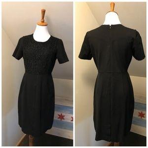 Land's End Black Dress 8P 63F176